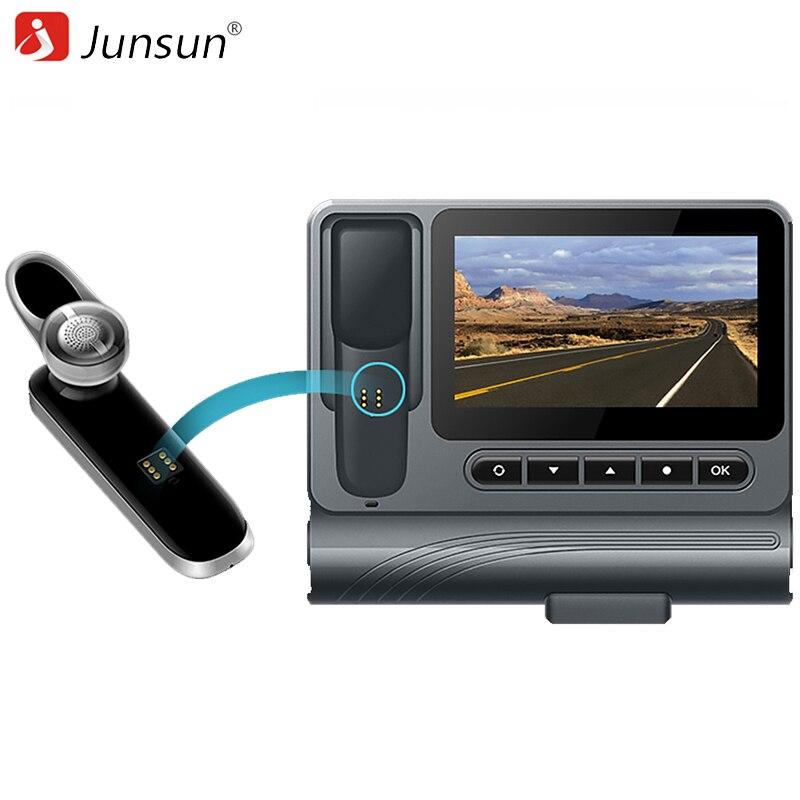 Junsun S90 Car DVRs Camera Sound control Bluetooth Video Recorder Full HD 1080P Automovil Dash Cam Registrar Auto Registrators junsun wifi car dvr camera novatek 96655 dash cam video recorder full hd 1080p for ford mondeo general model 2015 dvrs recorder