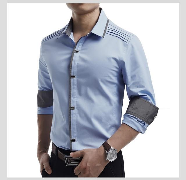 Top Quality Mwxsd brand mens casual long Sleeve Shirts Men Rock ...