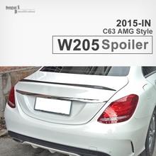 C180 c200 c220 c300 c250 Piezas De Repuesto para Mercedes clase C W205 estilo fiber carbon rear spoiler wing 2015 + benz C63 spoiler