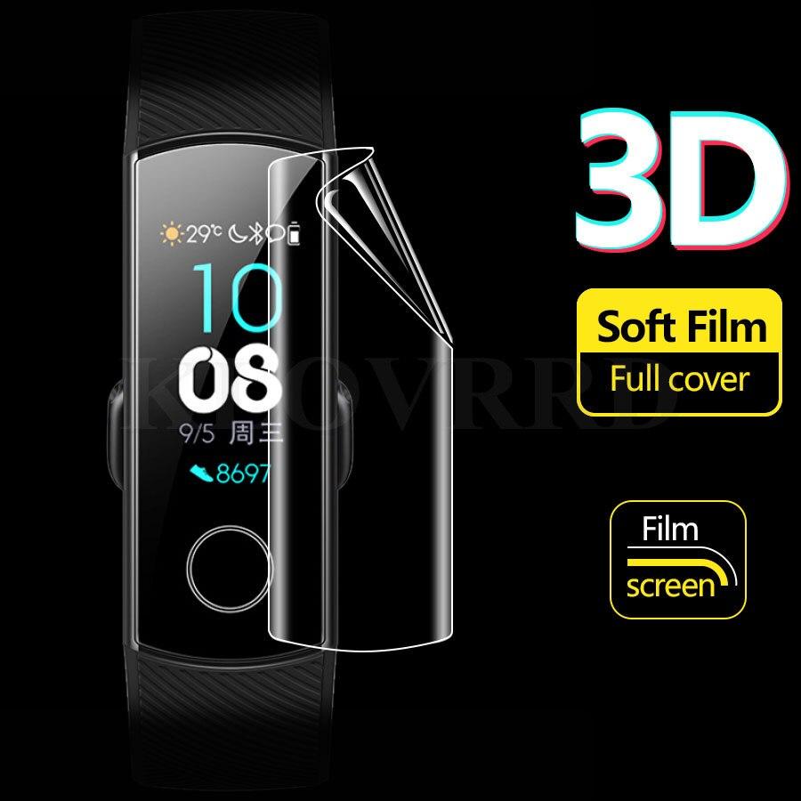 5pcs/lot 3D Full Cover Soft TPU Screen Protector For Huawei Honor Talk Band 3 A2 B2 B3 Smart Band 4 5 Lite Pro 3E ERIS B19 Zero