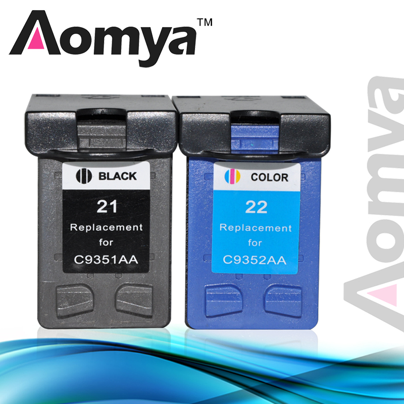Aomya Cartridge Replacement For HP 21 22 XL Deskjet 3915 D1530 D1320 F2100 F2280 F4100 F4180 Printer 21xl 22xl Ink Cartridge befon 21 22 xl compatible ink cartridge replacement for hp 21 22 21xl 22xl deskjet f2180 f2280 f4180 f2200 f380 300 380 printer