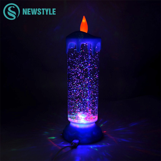 Colorful Candle Night Light USB Rechargeable LED Night Lamp Atmosphere Christmas  Light for Wedding Christmas Holiday - Colorful Candle Night Light USB Rechargeable LED Night Lamp