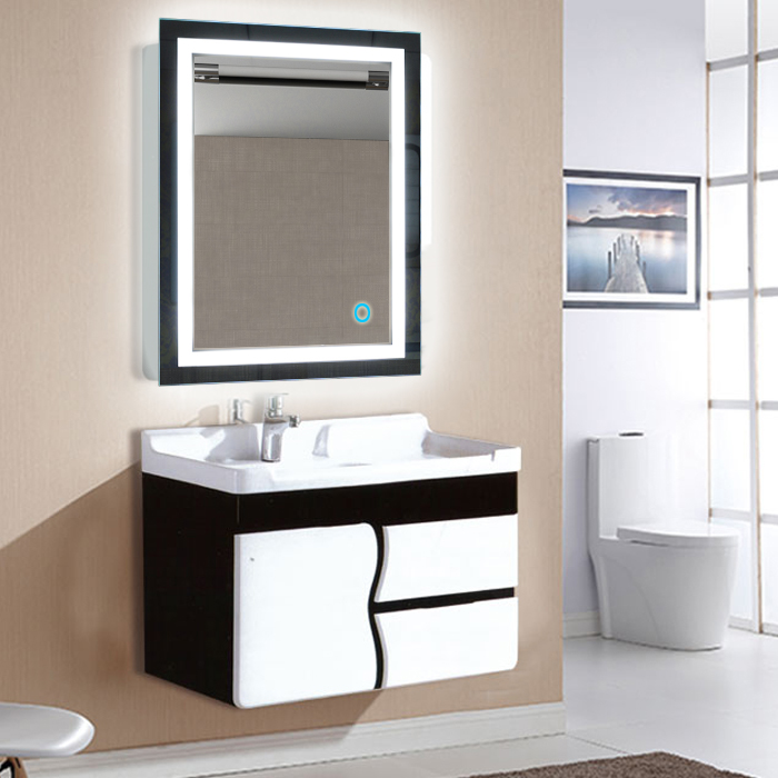 Fast Deliver 1pc Smart Mirror Led Bathroom Mirror Wall Bathroom Mirror Bathroom Toilet Anti-fog Mirror With Touch Screen 23w 6000k Hwc Punctual Timing Bathroom Hardware
