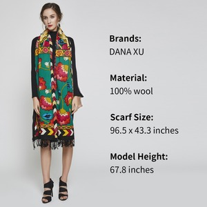 Image 4 - 2019 Luxury Brand Large Pashmina Fashion Scarves and Shawls Warm Scarf Women Muslim Hijab Cashmere Poncho Cape Wool Shawl Wrap