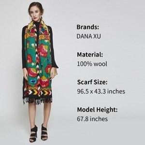 Image 4 - 2019 럭셔리 브랜드 대형 Pashmina 패션 스카프와 Shawls 따뜻한 스카프 여성 이슬람 Hijab 캐시미어 판초 케이프 울 목도리 랩