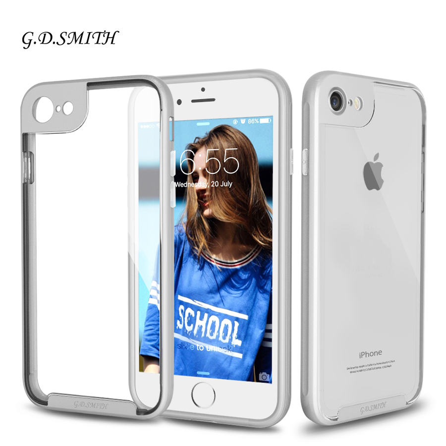 G.D.SMITH Original Slim Cover Case for iPhone 7 Case Luxury 2 in 1 Phone Case With Package New Arrival