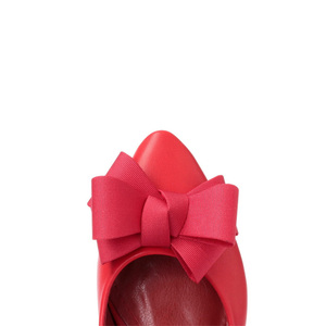 Image 4 - BEYARNE Neue mode Büro Dame niedrigen heels arbeit Schuhe frau pumpen Frauen herbst frühling arbeit Schuhe pointedtoe bowtie35 41yellowE495