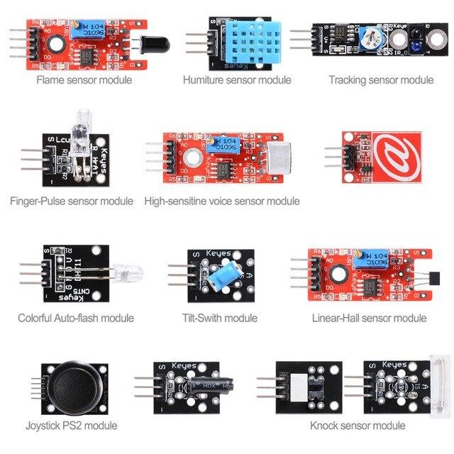 13 в 1 Датчика Модули Starter Kit Пламени для ARDUINO MCU Обучение Пользователей TE272