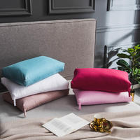 2Pcs 48*74cm 100%Cotton and Goose Down filler Bedding Pillows for sleeping White/Pink Color almohada oreiller kussens