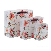 10pcs/lot 17x7x14cm/20x8x20cm High-grade paper Flower gift bag garment