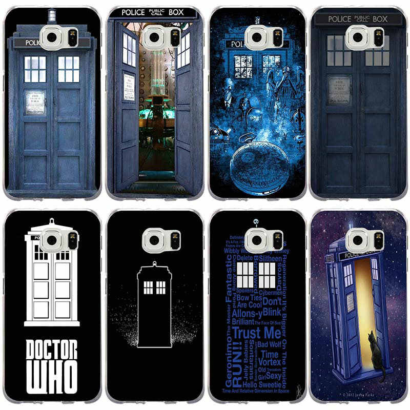 Phone Cases for Samsung Galaxy Note 3 4 5 8 S3 S4 S5 Mini S6 S7 S8 S9 S10 Lite Edge Plus Tardis Dr Doctor Who Police Call Box
