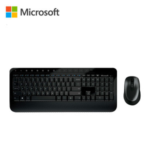 Microsoft 2000 Wireless Comfortable Blue track Keyboard Mouse Desktop Combos Office Household English Keypad PC Computer