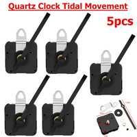 5 Pc pour marée Quartz contrôlée horloge mouvement moteur mécanisme 115mm mains raccord classique suspendu noir Quartz montre horloge murale