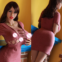 Europ face 170CM M Cup real silicone sex dolls huge breast, big butts love dolls, vagina real pussy sexy doll