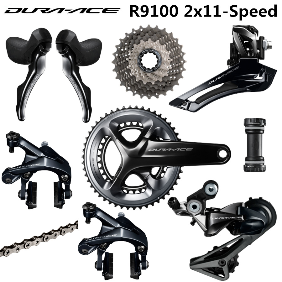 SHIMANO R9100 Groupset DURA ACE R9100 9000 Derailleurs ROAD Bicycle 50 34 52 36 53 39T