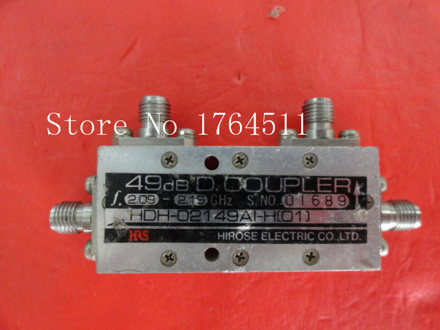 [BELLA] HRS HDH-02149AI-H (01) 2.09-2.19GHz 49dB Directional Coupler SMA