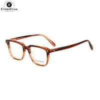 EE Vintage Eyeglasses Frame Men Myopia Prescription Optic Glasses Frame With Clear Lens Eyeglasses Frame Women