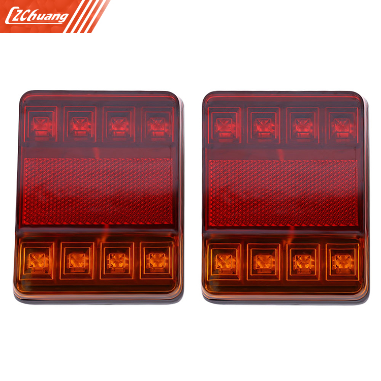 12V LED Van Truck Trailer Stop Rear Tail Brake Light Indicator Bright Lamp
