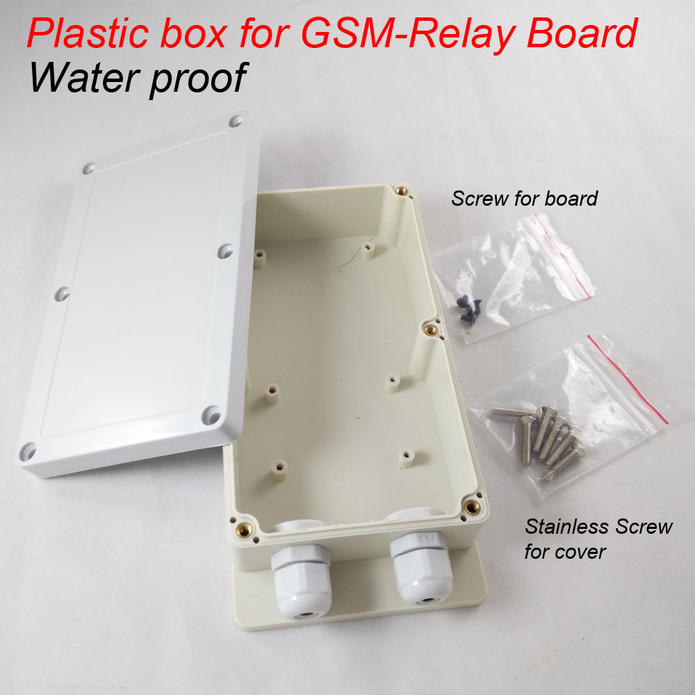 Plastic box for gsm-relay gsm remote relay switch control board купить в киеве gsm прослушку