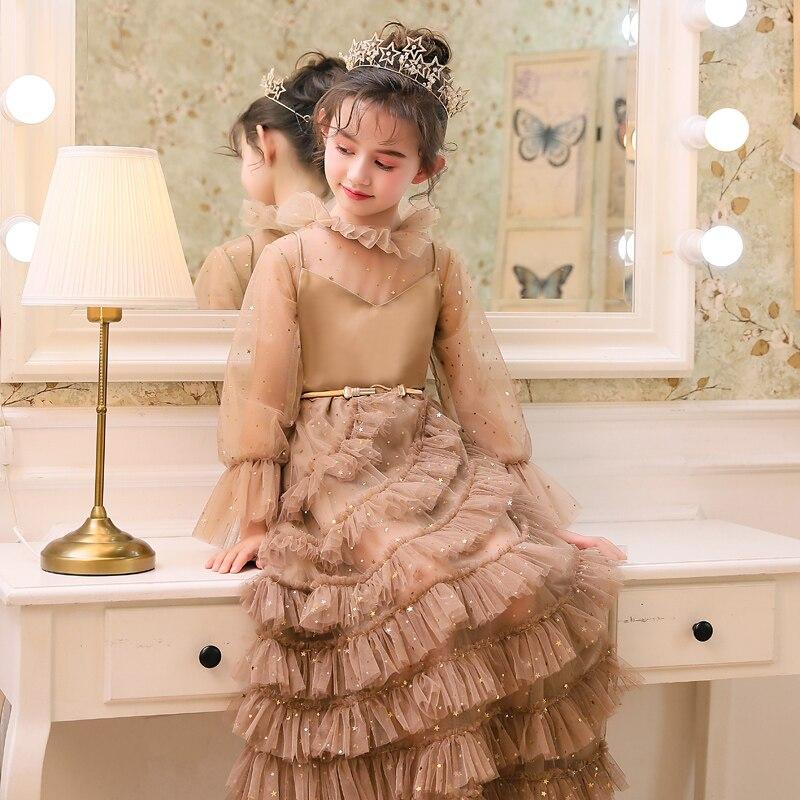 2019 mode nouvelle robe pour enfants modèle concours défilé longue robe de soirée robe de princesse Noble tempérament enfants dentelle robe - 5