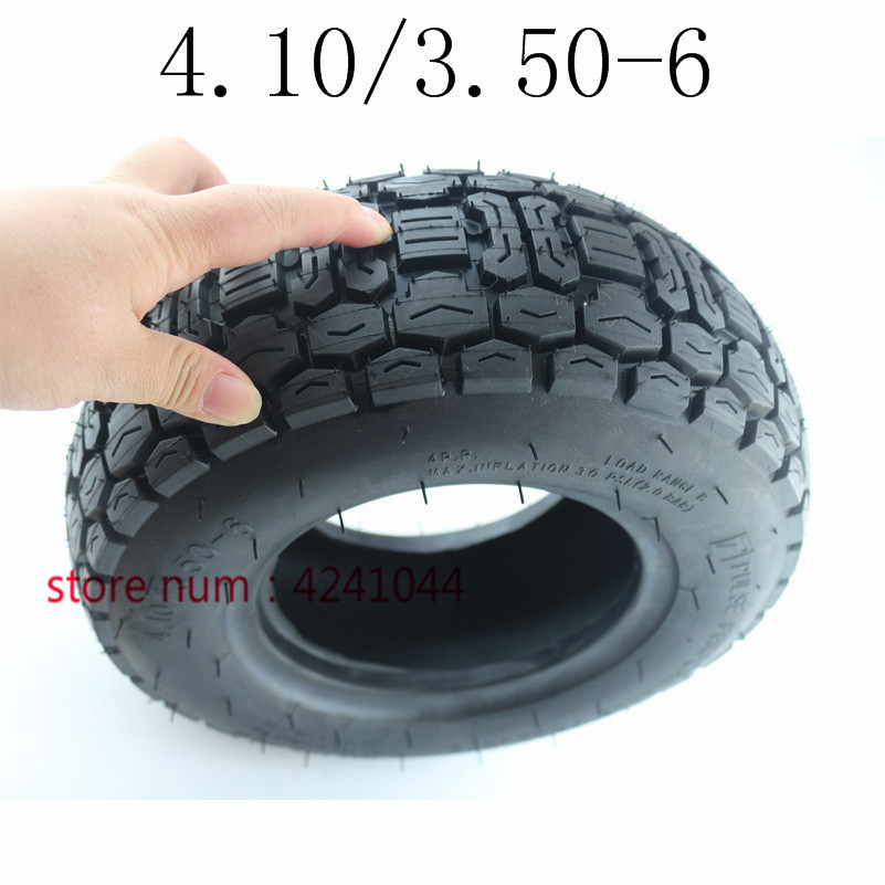 "4.10/3.50-6 Scooter Tires 6"" Lawn Mower/Snow&Mud Tyre 4.10/3.50-6 Mobility Scooter Tire Without Inner Tuber"