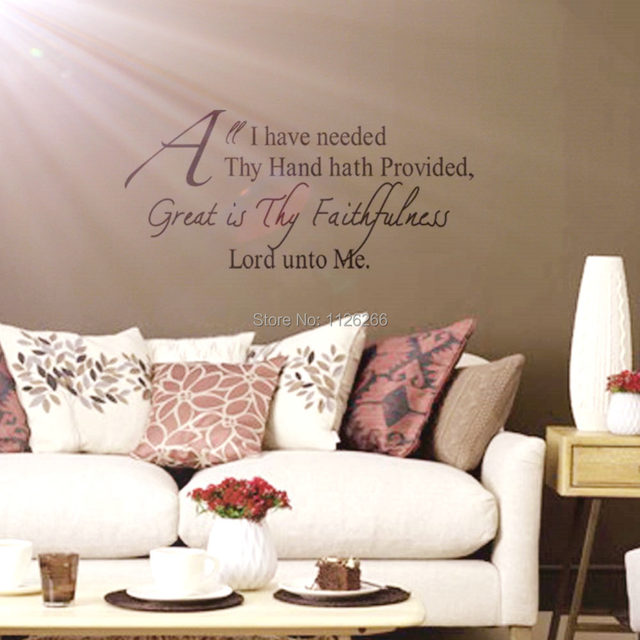 Online Shop Christian Wall Decals Quotes Great Is Thy Faithfulness ...