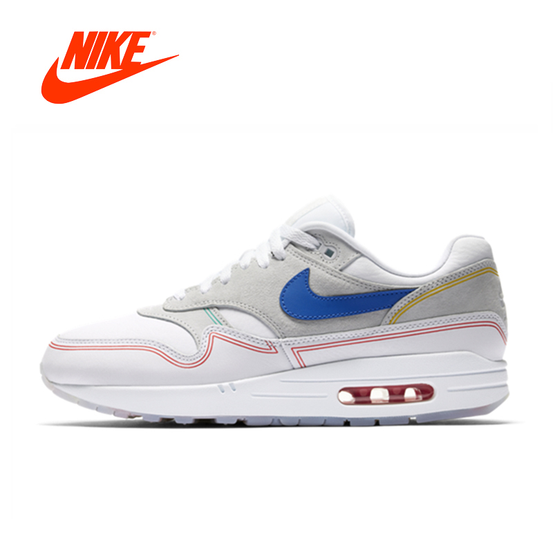 Original New Arrival Authentic Nike Air Max 1 Pompidou Women's Running Shoes Sport Outdoor Sneakers Good Quality AV3735-002