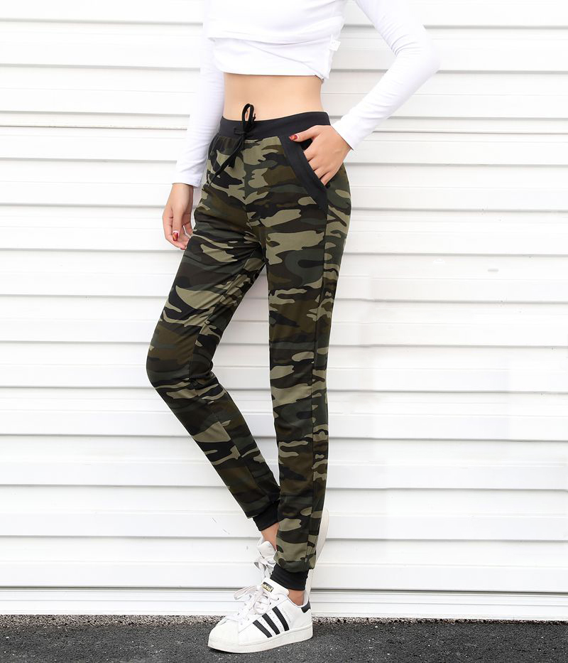 Sweatpants Harem Como Pants Drawstring Pantaloons Loose Female High Waist Pocket 15
