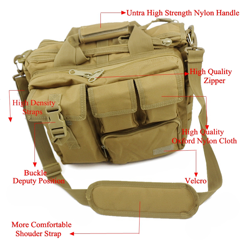 Military Army Hunting Tactical Laptop Bags Outdoor Waterproof Nylon Wear-resisting Shoulder Bag Men's Leisure Messenger Bag nylon 800d mobile phone waterproof wear belt outdoor sports purse bag army tactical camouflage bags