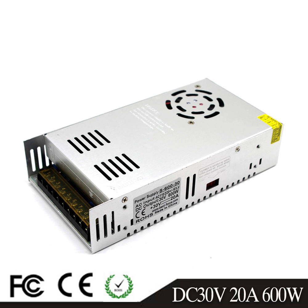 Single Output 600W 30V 20A 32V 18.7A 36V 16.7A 42V 14.3A 48V 12.5A 60V 10A Switching power supply Driver 110V 220V AC DC SMPS-in Switching Power Supply from Home Improvement