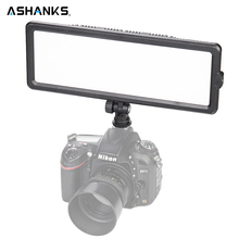 ASHANKS  LED Video Light Ultra thin LCD Bi-Color & Dimmable 3200-5600 DSLR Studio LED Light Lamp Panel for Camera DV Camcorder