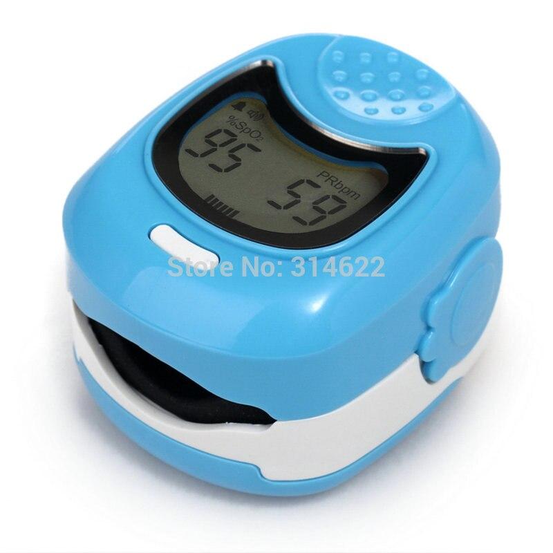 ФОТО Hot!LCD Fingertip Pulse Oximeter for Children for Child - Spo2 Monitor Fingerpulsoximeter Pulsoximeter Three Colors Optional