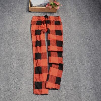 Женские брюки; длинные брюки; тканые хлопковые брюки для сна; женские брюки - Цвет: Red black grid