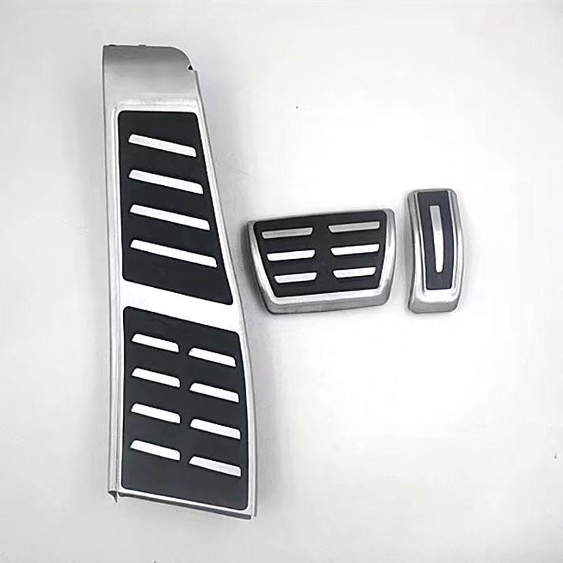 Foot Pedal Gas Fuel Brake Footrest Cover Cap Pad Trim Set Kit AT For  A7 S7 RS7 4G8 2010-2017 A6 S6 RS6 C7 4G RHD