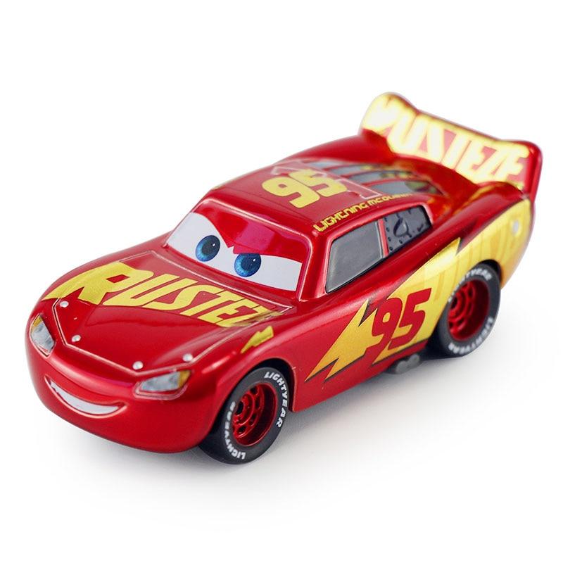 Дисней Pixar Тачки 2 3 Молния Маккуин матер Джексон шторм Рамирез 1:55 литье под давлением автомобиль металлический сплав мальчик малыш игрушки Рождественский подарок - Цвет: McQueen A