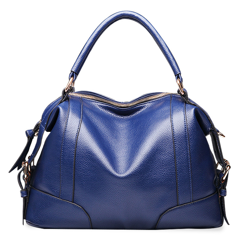 все цены на New 2018 Ladies Shoulder Messenger Bags Patchwork Handbags Women Famous Brands Genuine Leather Casual Tote Bag