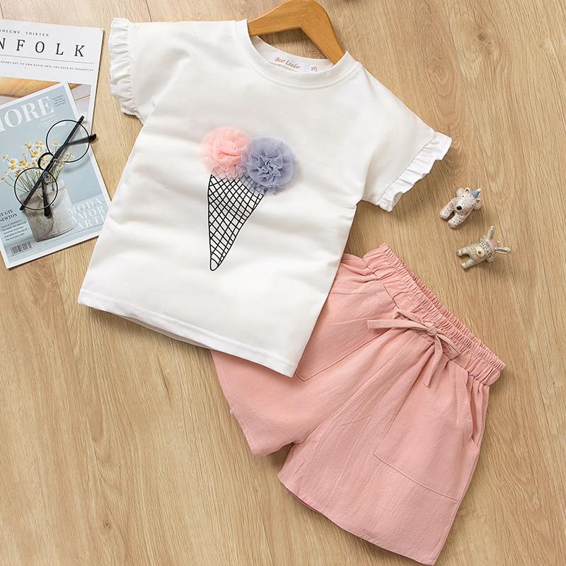 HTB10SfKMhYaK1RjSZFnq6y80pXaR Menoea Girls Suits 2020 Summer Style Kids Beautiful Floral Flower Sleeve Children O-neck Clothing Shorts Suit 2Pcs Clothes