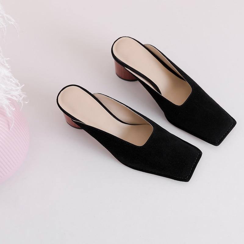 Flanelle Sur Chaude black Mode Causalité Mujer De Faux Nude Parti Femmes Slip Pantoufles Chaussures Fourrure D'hiver PwO0kn