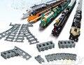 Строительные Блоки Игрушки для Детей Железнодорожных Путей для Поезд Прямо и изогнутые и разветвленный и мягкие Композиции совместимы с лепин поезд