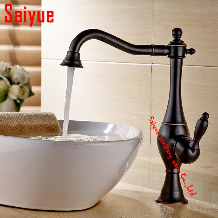 2016 New arrival bathroom sink faucet mixer tap single holder/hole deck mounted oil rubbed bronze  robinet salle de bain2016 New arrival bathroom sink faucet mixer tap single holder/hole deck mounted oil rubbed bronze  robinet salle de bain