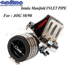 цена на Performance carburetor Intake Manifold pipe interface Reed Valve for 2 stroke scooters moped PWK PE KOSO JOG 50 90 1E40QM