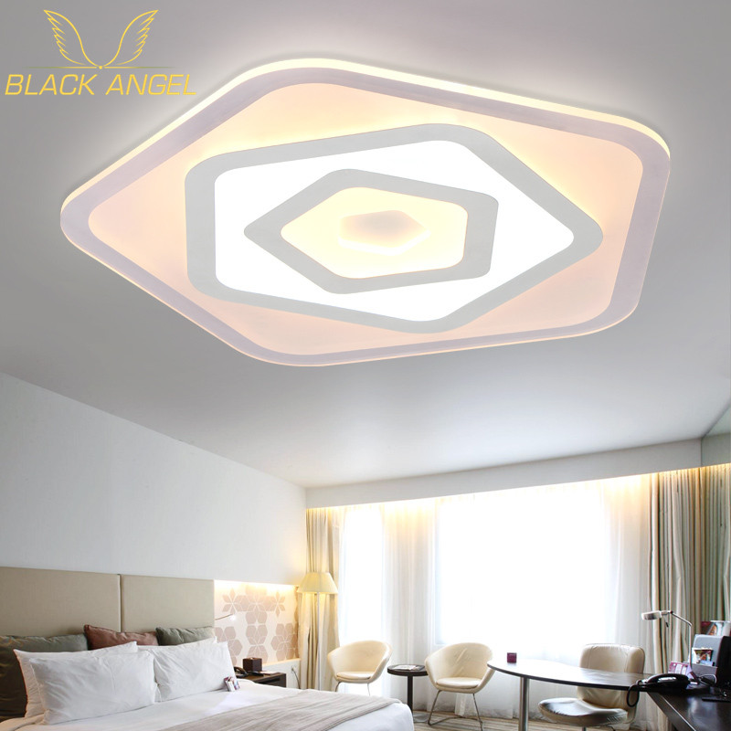 2016 modern LED Ceiling Lights acrylic Ultrathin Living Room ceiling lights bedroom Decorative lampshade Lamparas de techo noosion modern led ceiling lamp for bedroom room black and white color with crystal plafon techo iluminacion lustre de plafond