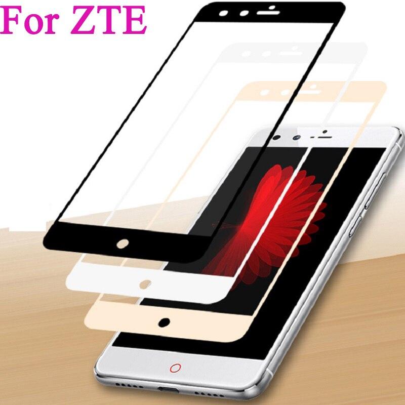 Full Cover Tempered Glass For ZTE Nubia Z11 mini S Z981 A2 PLUS V8 M2 LITE Z17 MINI Screen Protector Toughened Film Colorful(China)
