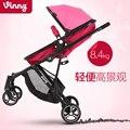 Bebé cochecito paisaje de alta bebé luz cesta carro de bebé puede ser un camino de doble botón para tener un coche puede ser doblado