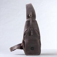 Лидер продаж Crazy Horse кожа груди пакет сумка винтажная дорожная сумка мужчины и женщины, сумка натуральная кожа #0211