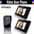 Wireless Video Intercom Door Phone System 7 Inch IR Night Vision Video Doorbell Camera Waterproof 1 Camera 2 Monitors Kits