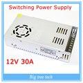 12 V 30A 360 W comutação adaptador de alimentação tira conduzida luz transformador 12 v para 3d de impressora parte