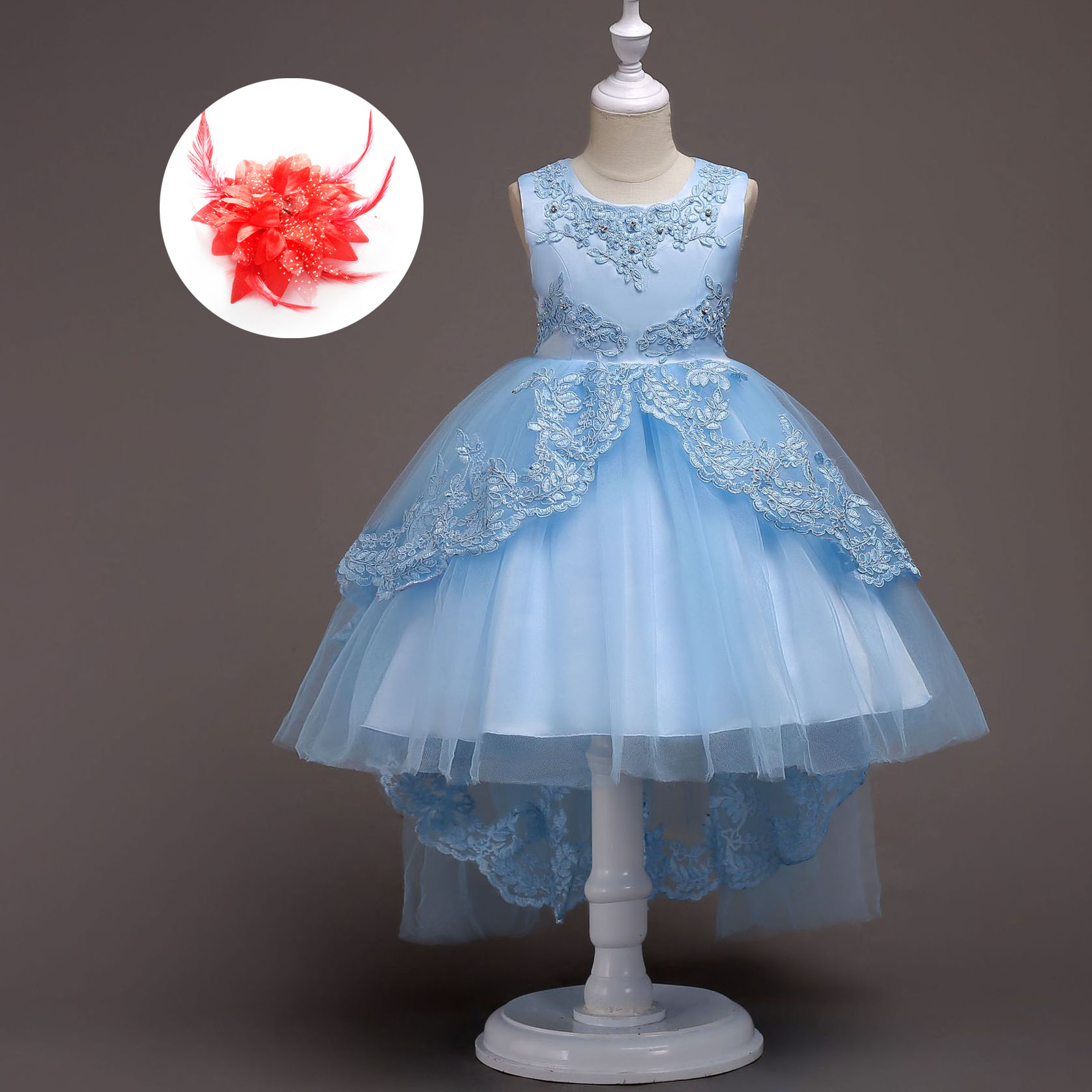 Teenage Girls Clothing 12 Years Beaded Lace Princess Evening Gowns for Wedding Birthday Dresses for Girls 3 Years To Size 16