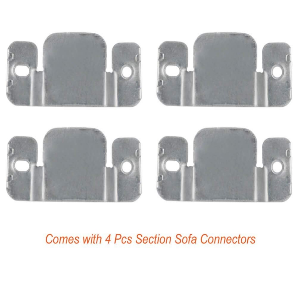 4 Pack Sectional Sofa Connector Couch Furniture Interlocking Software Bracket With Screws And 12Pcs Furniture Pads