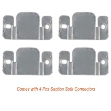 4 Pack Sectional Sofa Connector Couch Furniture Interlocking Bracket With S And 12pcs Pads